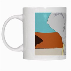 Africa Elephant Animals Animal White Mugs by Nexatart