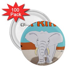 Africa Elephant Animals Animal 2 25  Buttons (100 Pack)  by Nexatart