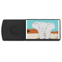 Africa Elephant Animals Animal Rectangular Usb Flash Drive