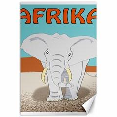 Africa Elephant Animals Animal Canvas 24  X 36