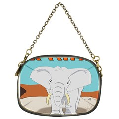 Africa Elephant Animals Animal Chain Purses (one Side)  by Nexatart