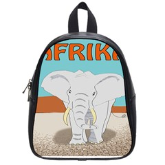 Africa Elephant Animals Animal School Bag (small) by Nexatart
