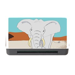 Africa Elephant Animals Animal Memory Card Reader With Cf by Nexatart