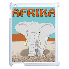 Africa Elephant Animals Animal Apple Ipad 2 Case (white) by Nexatart