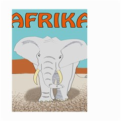 Africa Elephant Animals Animal Small Garden Flag (two Sides) by Nexatart