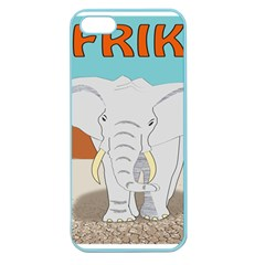 Africa Elephant Animals Animal Apple Seamless Iphone 5 Case (color)