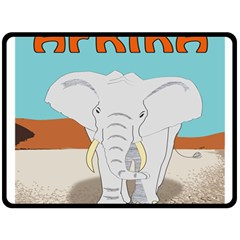 Africa Elephant Animals Animal Double Sided Fleece Blanket (large)