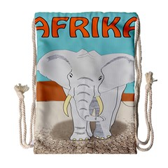 Africa Elephant Animals Animal Drawstring Bag (large) by Nexatart