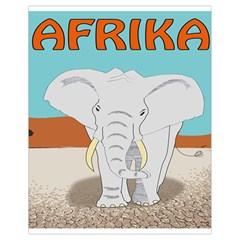Africa Elephant Animals Animal Drawstring Bag (small)
