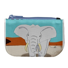 Africa Elephant Animals Animal Large Coin Purse
