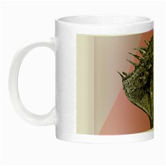 Lizard Hexagon Rosa Mandala Emblem Night Luminous Mugs