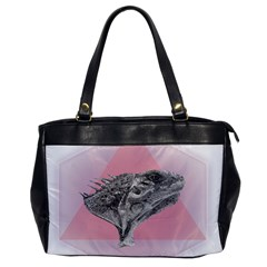 Lizard Hexagon Rosa Mandala Emblem Office Handbags by Nexatart