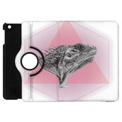 Lizard Hexagon Rosa Mandala Emblem Apple Ipad Mini Flip 360 Case