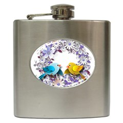 Flowers Floral Flowery Spring Hip Flask (6 Oz) by Nexatart