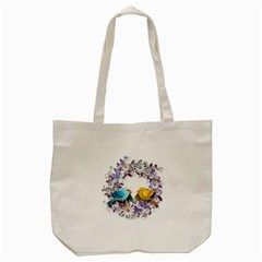 Flowers Floral Flowery Spring Tote Bag (cream) by Nexatart