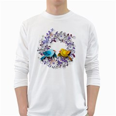 Flowers Floral Flowery Spring White Long Sleeve T Shirts