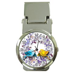 Flowers Floral Flowery Spring Money Clip Watches by Nexatart
