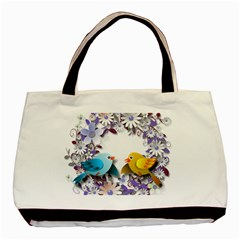 Flowers Floral Flowery Spring Basic Tote Bag (two Sides) by Nexatart