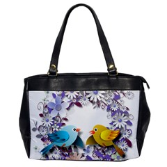 Flowers Floral Flowery Spring Office Handbags by Nexatart
