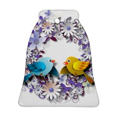Flowers Floral Flowery Spring Bell Ornament (two Sides)