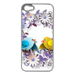 Flowers Floral Flowery Spring Apple Iphone 5 Case (silver)