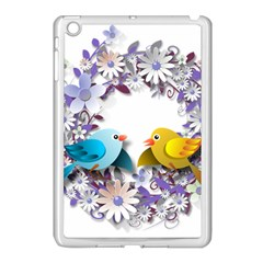 Flowers Floral Flowery Spring Apple Ipad Mini Case (white) by Nexatart