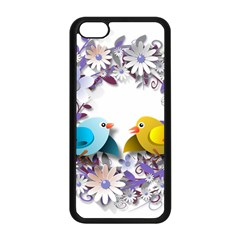 Flowers Floral Flowery Spring Apple Iphone 5c Seamless Case (black) by Nexatart