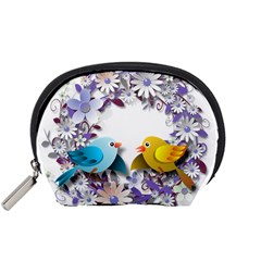 Flowers Floral Flowery Spring Accessory Pouches (small)