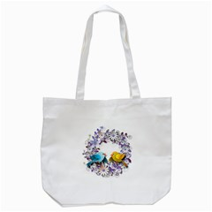 Flowers Floral Flowery Spring Tote Bag (white) by Nexatart