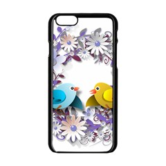 Flowers Floral Flowery Spring Apple Iphone 6/6s Black Enamel Case by Nexatart
