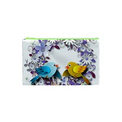 Flowers Floral Flowery Spring Cosmetic Bag (xs) by Nexatart