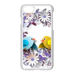 Flowers Floral Flowery Spring Apple Iphone 7 Seamless Case (white) by Nexatart