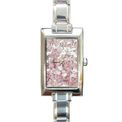 Pink Colored Flowers Rectangle Italian Charm Watch by dflcprints