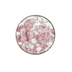Pink Colored Flowers Hat Clip Ball Marker (10 Pack) by dflcprints