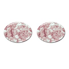 Pink Colored Flowers Cufflinks (oval) by dflcprints