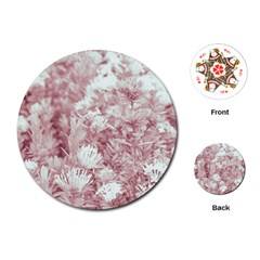 Pink Colored Flowers Playing Cards (round)  by dflcprints