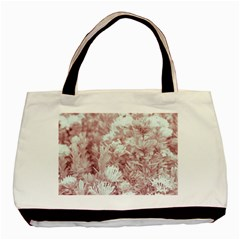 Pink Colored Flowers Basic Tote Bag by dflcprints
