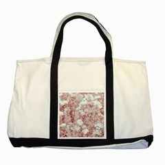 Pink Colored Flowers Two Tone Tote Bag by dflcprints