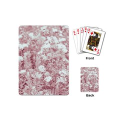 Pink Colored Flowers Playing Cards (mini)  by dflcprints