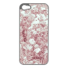 Pink Colored Flowers Apple Iphone 5 Case (silver) by dflcprints