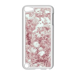 Pink Colored Flowers Apple Ipod Touch 5 Case (white) by dflcprints