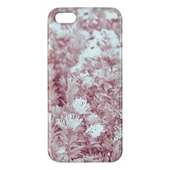 Pink Colored Flowers Apple Iphone 5 Premium Hardshell Case by dflcprints