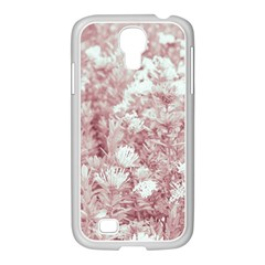 Pink Colored Flowers Samsung Galaxy S4 I9500/ I9505 Case (white) by dflcprints