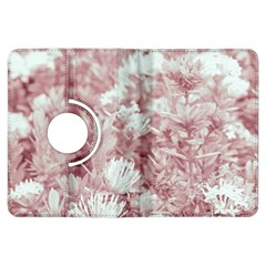 Pink Colored Flowers Kindle Fire Hdx Flip 360 Case by dflcprints