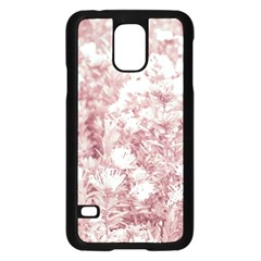 Pink Colored Flowers Samsung Galaxy S5 Case (black) by dflcprints