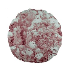 Pink Colored Flowers Standard 15  Premium Flano Round Cushions by dflcprints