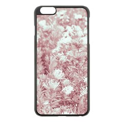 Pink Colored Flowers Apple Iphone 6 Plus/6s Plus Black Enamel Case by dflcprints