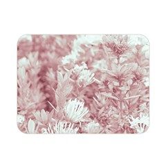 Pink Colored Flowers Double Sided Flano Blanket (mini)  by dflcprints