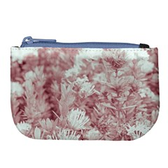 Pink Colored Flowers Large Coin Purse by dflcprints