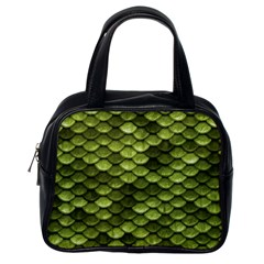 Green Mermaid Scales   Classic Handbags (one Side) by paulaoliveiradesign